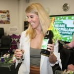 Midshire Marketing Manager Adrienne Topping winning a prize
