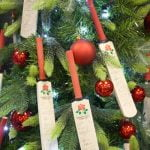 Francis House Festival of Christmas Trees - tree decorated by the Lancashire County Cricket Club