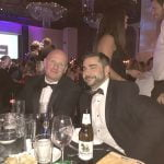 Rob and Dan from Midshire at the Talk of Manchester Awards 2017